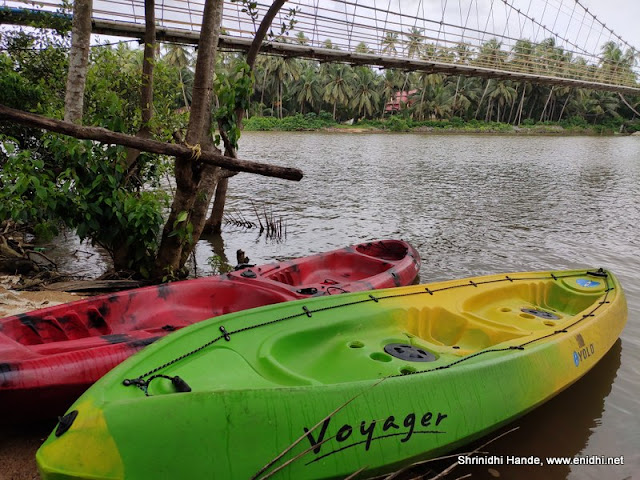 Kayaking in Kemmannu hanging bridge Udupi
