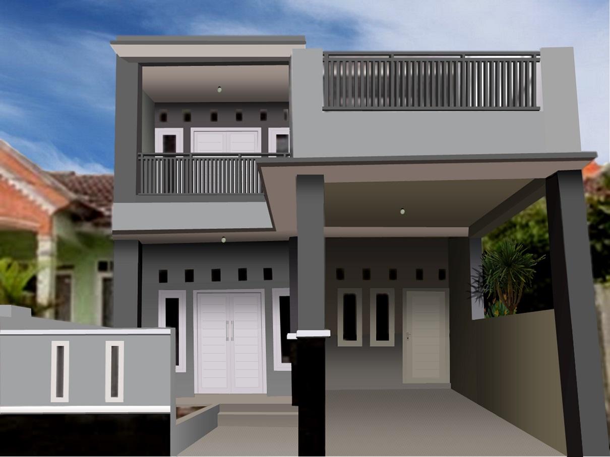 Hasil proyek Renovasi pengembangan rumah 1 lantai menjadi 2 lantai milik Trully di perumahan Nirwana Estate, Cikaret, Cibinong, Bogor tahun 2010(The photo has been modified)