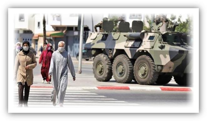 """فيروس كورونا.. مدرعات الجيش تجوب شوارع """"كازا"""""""