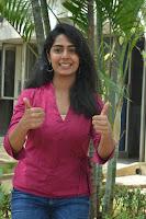 Telugu Actress Meghalekha Photos in Pink Dress at Paagal Movie Trailer Launch HeyAndhra.com