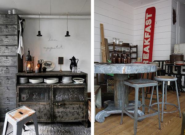 Arredare Vintage zinco industrial chic  Home Shabby Home  Arredamento interior craft