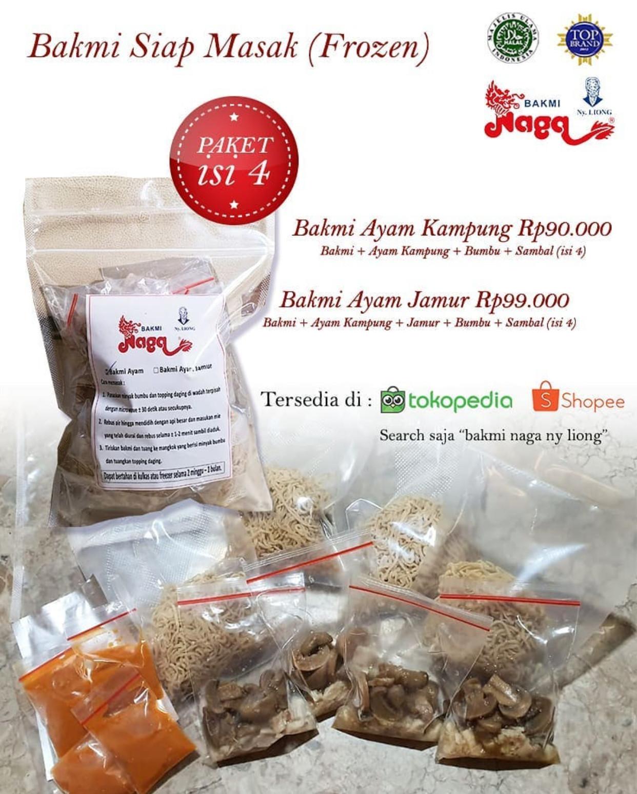 Promo Bakmi Naga Terbaru Paket Isi 4 Porsi Harga Spesial Hanya Rp 90.000!