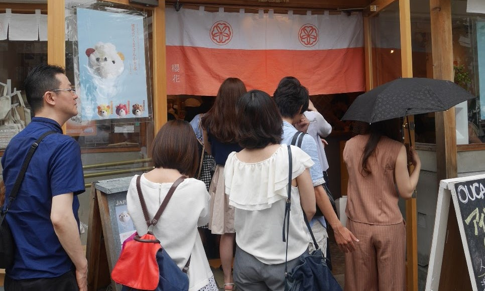 Cute shaved ice in Summertime Japan: Tokyo Ebisu's Ice Ouca (ジャパニーズアイス櫻花)