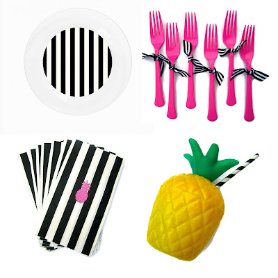 Mini Party Collections Party Like a Pineapple  table ware
