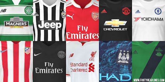 Jersey Bola Official dan Leaked 2015-2016