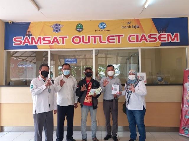 SAMSAT Subang Bekerjasama Bank bjb  : Cukup Scan QRIS-nya, Beres Pajaknya