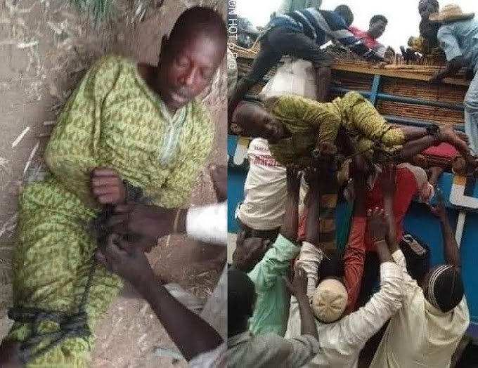 Man tied up and sent back to his home, after leaving his family for 6years in search of greener pastures