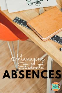 Absence -Classroom organization