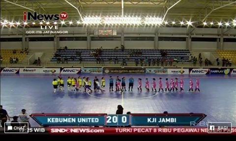 Kebumen United Angel Tekuk KJI Jambi 20 - 0