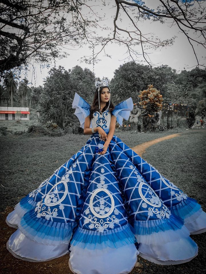 Brother makes impressive gown for sister's prom