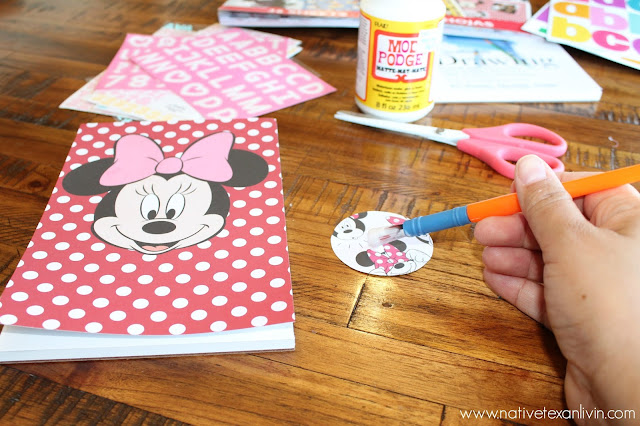 Easy DIY Disney Autograph books; Mod Podge front & back covers
