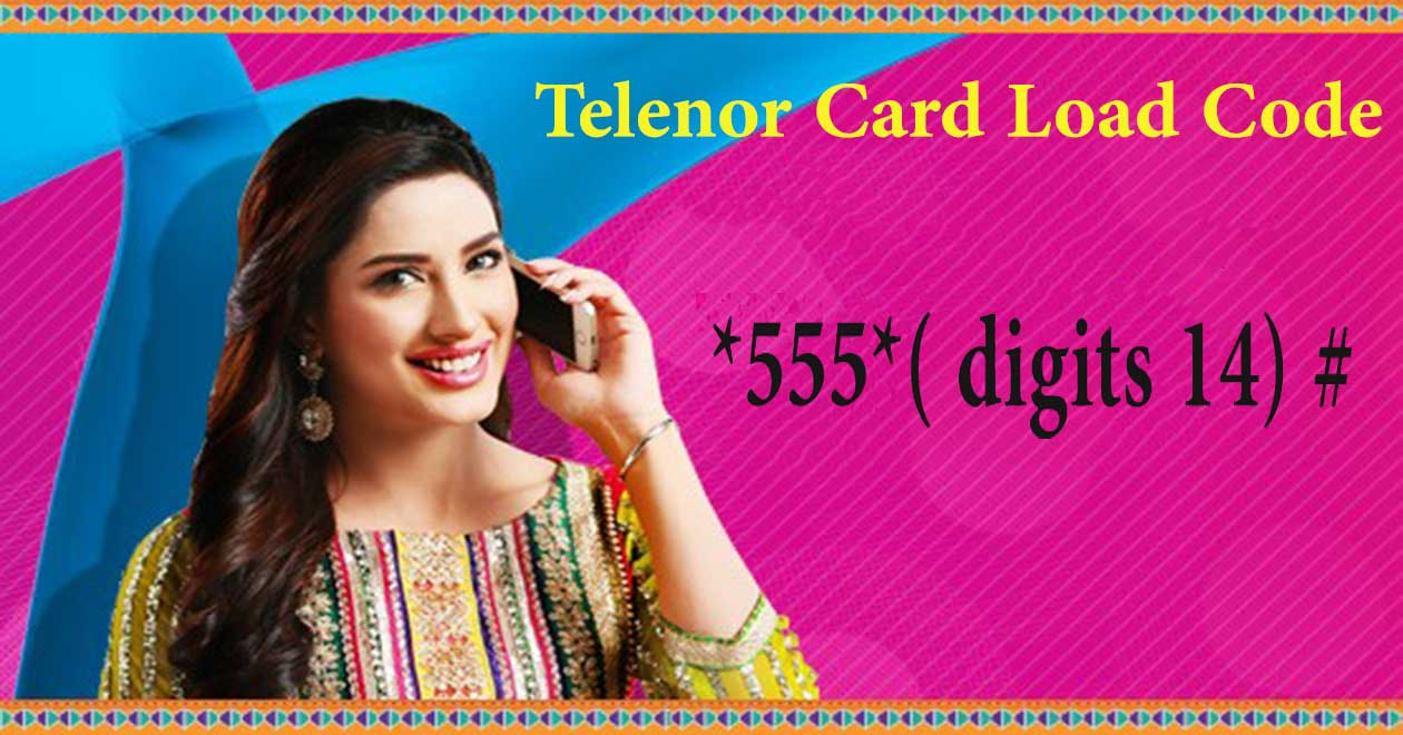 telenor card load code telenor recharge code 2020  mobile