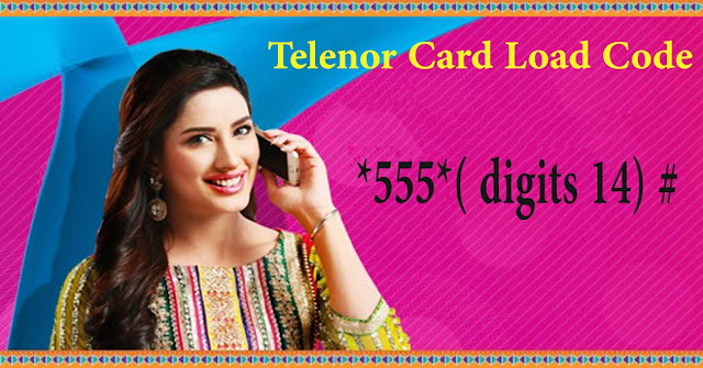 telenor card load code