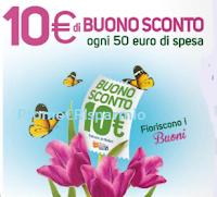 Logo Conad: ogni 50€ di spesa per te subito 10€ di buono sconto !