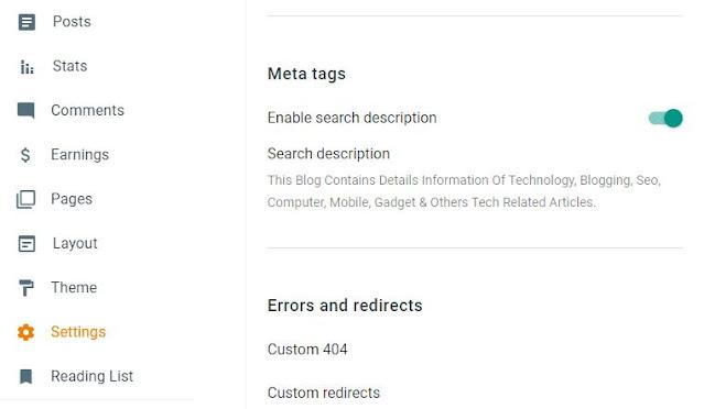 New Blogger Search Description