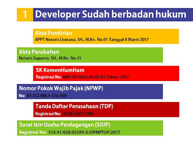 Developer Kampung Buah Cikalong sudah berbadan hukum
