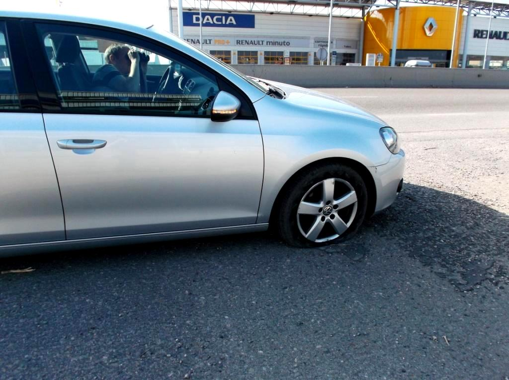 Flat tyre....