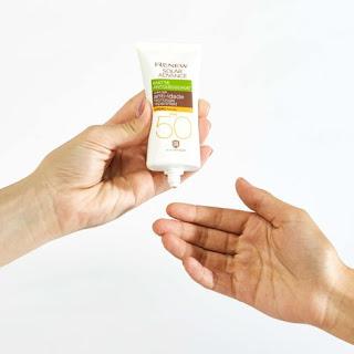 protetor solar facial renew com cor fps 50 Advance matte anti idade resenha dicas da tia cor médio