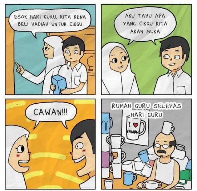 kartun ucapan selamat hari guru