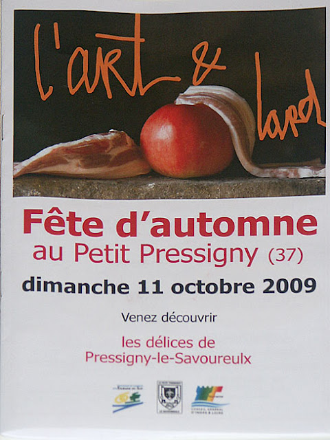 Poster for a food and art festival, Indre et Loire, France. Photo by Loire Valley Time Travel.