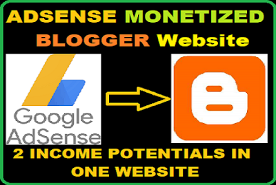 Earn money with a blogger blogspot website