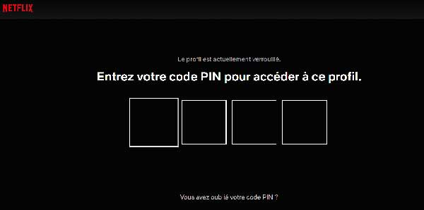 code PIN Netflix