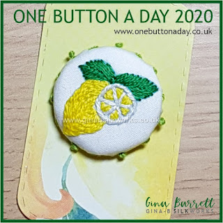 Day 198 : Lemons - One Button a Day 2020 by Gina Barrett