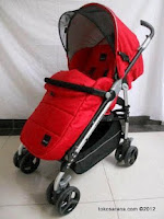 BabyElle BS-S321 Centro LightWeight Baby Stroller with Foot Cover in Red