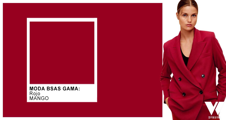 Rojo color de moda otoño invierno 2021