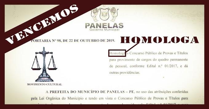 HOMOLOGAÇÃO DO CONCURSO PÚBLICO DE PANELAS