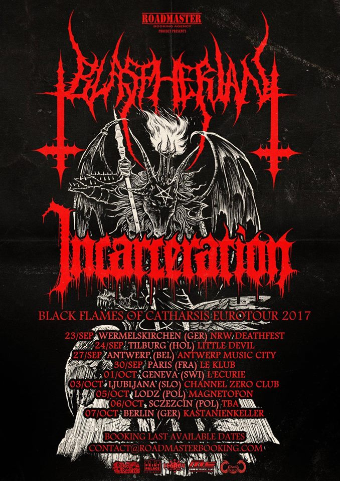 4.10. 2017 - BLASPHERIAN, INCARCERATION - Prague, club Modrá Vopice