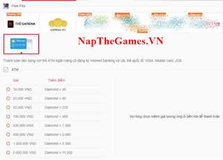 Napthe.vn free fire ~ Cara Mendapatkan Kartu Free fire untuk mendapatkan diamond