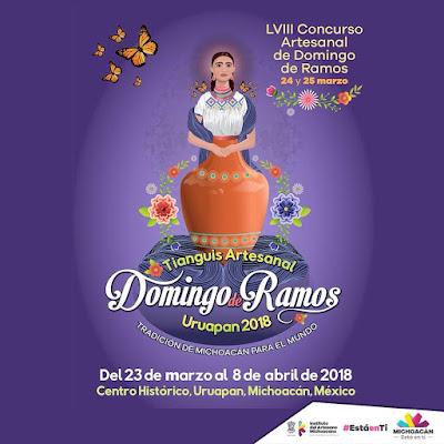 Cartel Oficial del Tianguis de Domingo de Ramos en Uruapan 2018