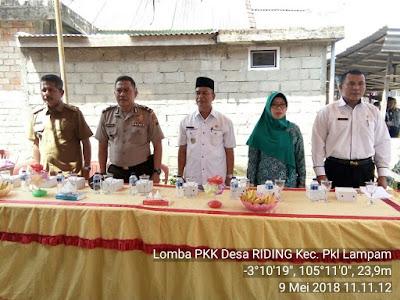 Riding wakili Pangkalan Lampam Lomba 10 Program PKK tingkat Kabupaten OKI
