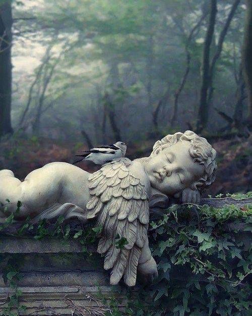 """Pietra da giardino vento nei salici sono OLE CON CAPPELLO /""""in Calcestruzzo Statua Ornamento"""