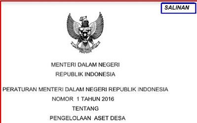 Permendagri Nomor 1 Tahun 2016