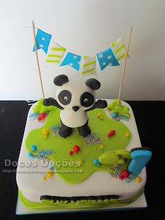 bolo festa  panda