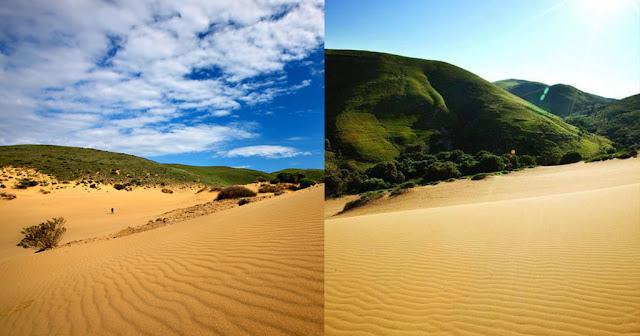 Η «Σαχάρα της Ελλάδας» βρίσκεται στη Λήμνο και έχει απόκοσμο σκηνικό με χρυσή άμμο