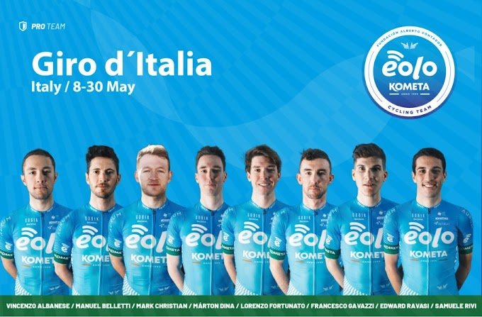 El Eolo - Kometa define el equipo que disputará el Giro de Italia