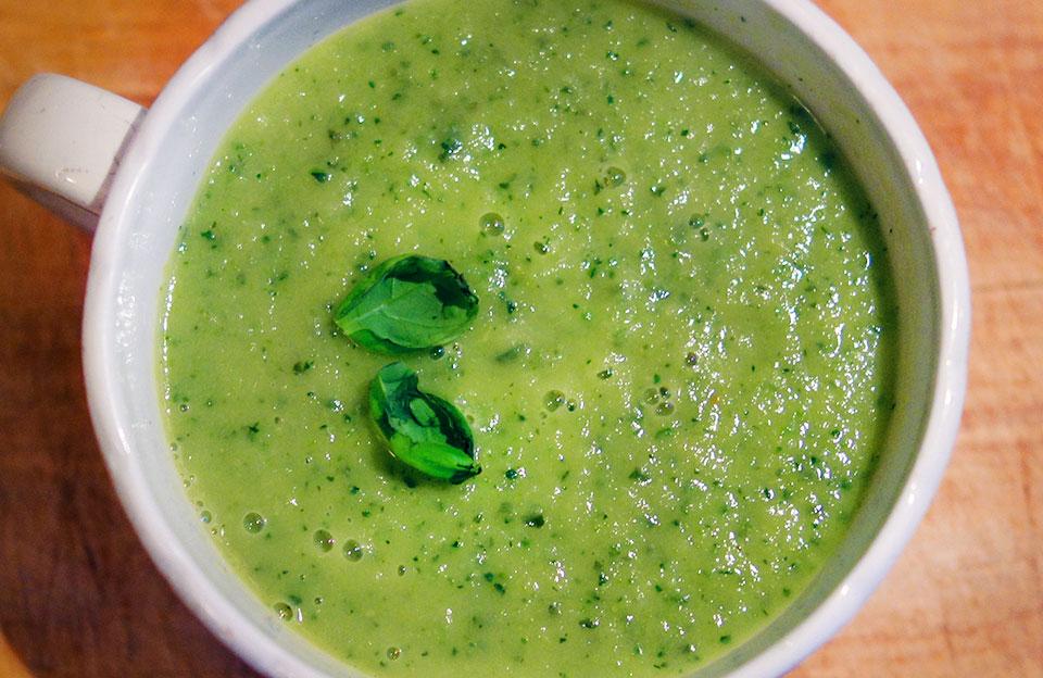 recept paprika courgette soep