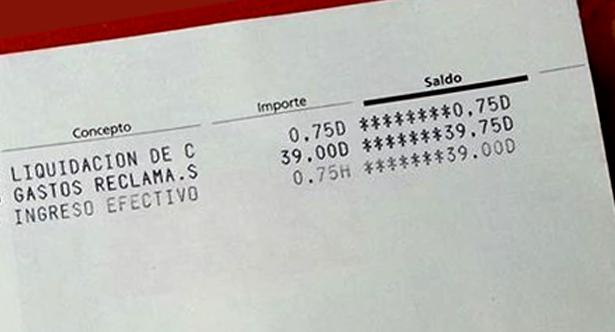 Por un descubierto de 75 céntimos el Banco Santander se cobra 39 euros