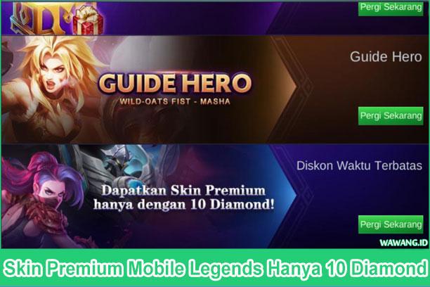Dapatkan skin premium mobile legends viper hanabi dan ancient soul uranus hanya dengan 10 diamond