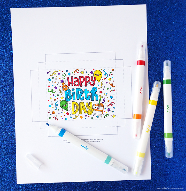 Free Printable Birthday Gift Box