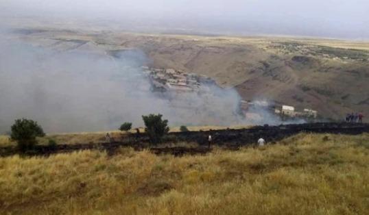 إخماد عدة حرائق في السويداء أحدها طال حقول أشجار مثمرة بالريف الشرقي