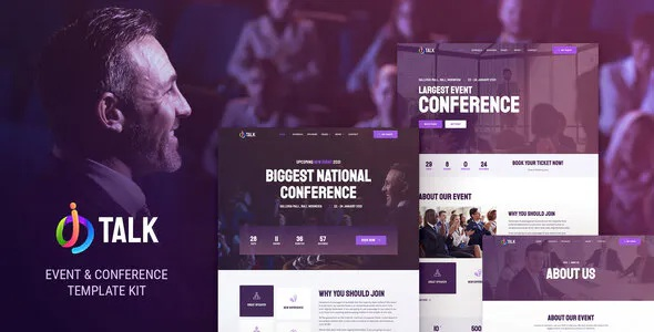 Best Event and Conference Elementor Template Kit