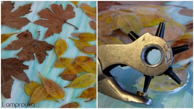 Οδηγίες για να φτιάξεις ένα μόμπιλε με αληθινά φύλλα.