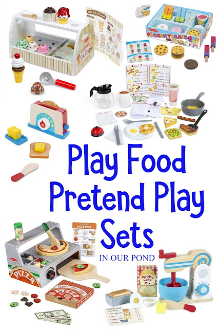 Best Play Food for the Toy Kitchen // In Our Pond // Gift Guide for Kids // Fuel the imagination // Pretend Play // Set up your own shop and start serving customers