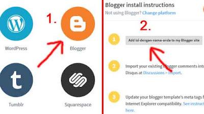 blogger install disqus