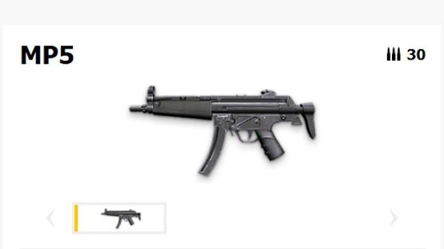 SMG di FF Jenis MP5