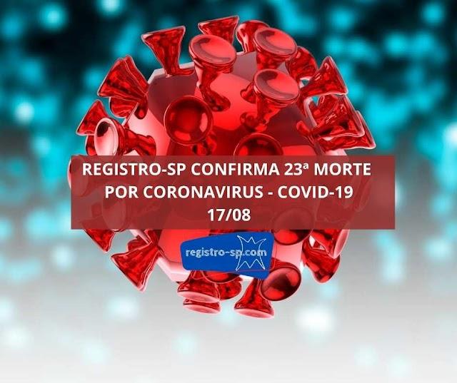 Registro-SP confirma 23 morte por Coronavirus - Covid-19